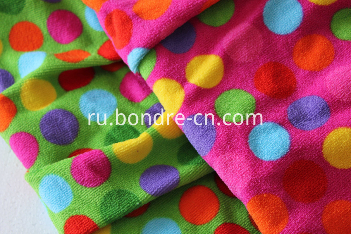 dots children bath towel