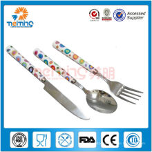 colorful ceramic cutlery set with stainless steel blade