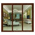 Moderne Außendoppelglas-Aluminium-Eingangstüren aus Aluminium