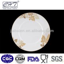 ZH001 Belle assiette en céramique en porcelaine gracieuse