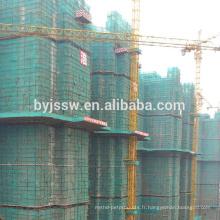 Filet de sécurité de construction / filet vert de sécurité d'échafaudage de construction à vendre
