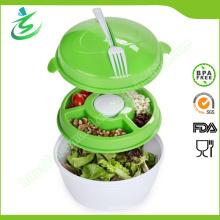 Plateau de salade en plastique réglé à Go, 5 PCS Set