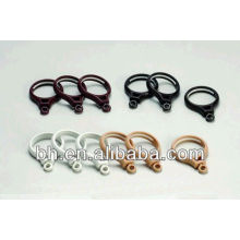Black plastic curtain pole ring