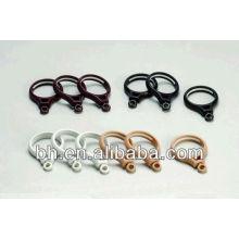 Черное пластиковое кольцо для занавесок