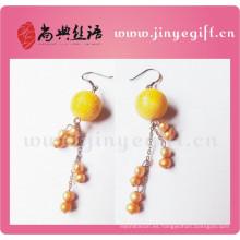 Pendientes de la perla de la joyería de Guangzhou Craft Jewellery novedad para mujer