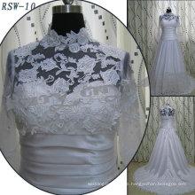 RSW-10 de alta calidad 2011 de venta caliente nuevo diseño de las damas elegantes de moda personalizado venecia encaje de una línea de vestido de novia real