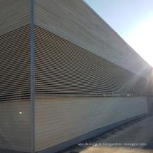 Revêtement en bois composite de WPC / panneaux de mur imperméables / revêtement en bois extérieur de mur