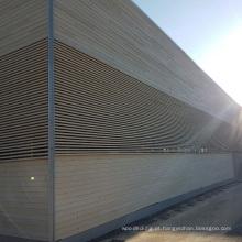 Tapume de madeira composto de Wpc / painéis de parede impermeáveis / revestimento de madeira exterior da parede