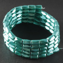 Green Hematite 18 Faded Tube Beads 5X8MM Grado AB