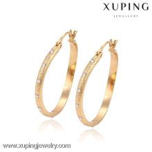 90483 xuping 18k chapado en oro de joyería de lujo al por mayor pendiente de aro