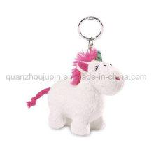 OEM Plush Stuffed Uicorn Toy Keyring Keychain Key Ring Chain