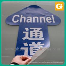 Impresión decorativa relectiva de la etiqueta engomada del PVC