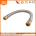 LBA027 5 Manguera de ducha con doble bloqueo, tubo de EPDM con recubrimiento SS304, cromado, uso prolongado. Acero inoxidable trenzado de alambre de plomería flexible