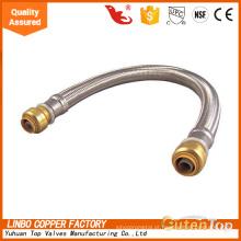 LBA027 5 Mangueira de Chuveiro Double Lock, tubo EPDM com revestimento SS304, cromado, longo tempo de uso. Mangueira flexível de encanamento de fio trançado de aço inoxidável