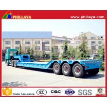Camion lowbed hydraulique de semi-remorque multi-essieux avec le col de cygne détachable