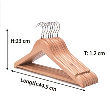 High-Grade Wooden Suit Hangers (20 Pack) Solid Wood Coat Hanger with Pants Bar and Swivel Hook