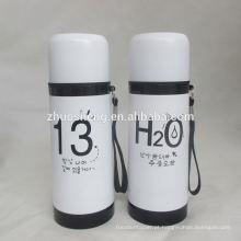 26oz limpeza impresso bela garrafa de vácuo térmica