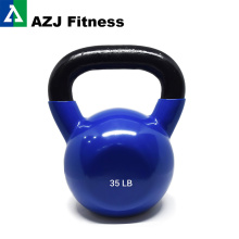 35LB Gym Fitness Colored Plastic Dipped Kettlebell