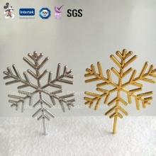 Venda quente personalizado Snowflake Christmas Cake Decorations para 2016