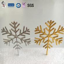 Decoraciones personalizadas de la torta de la Navidad del copo de nieve de la venta caliente para 2016