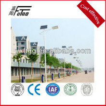 powder painting steel light pole use the solar power