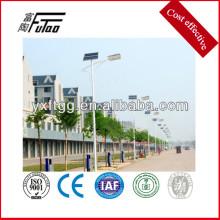 Poste de luz led solar, poste de luz de aço galvanizado