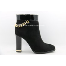 Attractive Fashion Metal High Heels Winter Ankle Ladies Boots