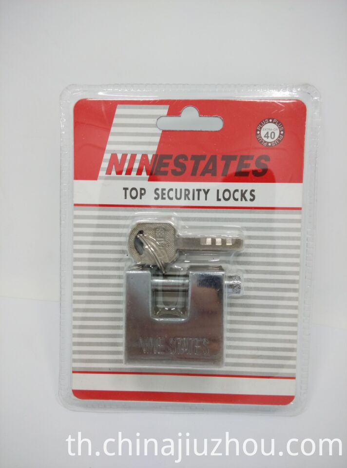 40MM High Quality Rectangle Blade Iron Padlock
