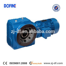 SAF67 flange mounted reducer helical worm gearmotor with solid shaft