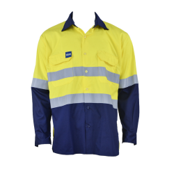 Light Yellow Flame-Retardant Jacket with Reflective strap
