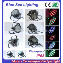 54pcs x 3w stage light disco equipment IP65 par 56 led swimming pool lights