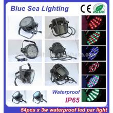 Equipamento do disco da luz do estágio do estágio 54pcs x 3w IP65 par 56 conduziu luzes da piscina