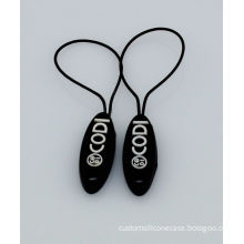 Customized Silicone Zipper Pulls For Luggage, Bags, Promotional Rope Zipper Slider