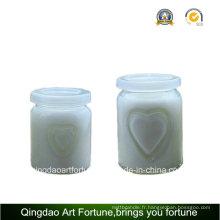 Bougie parfumée en verre pour mariage et décoration pour fête