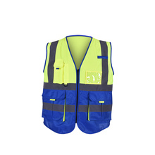 Zipper Safety biocolor Vest Reflective Strips