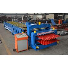 Low MOQ for Roof Roll Forming Machine Double Corrugated Rood Sheet Metal Roll Forming Machine export to Pitcairn Manufacturers