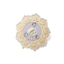 Insigne organisationnel en métal fait sur commande avec l'or plaqué (GZHY-LP-017)