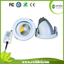 COB LED Downlight Cutout140mm 15W giratorio LED Downlight