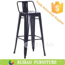 Muebles de Bar Bar Red Metal Bar Silla de la espalda Sillas Uso Cafe Tienda