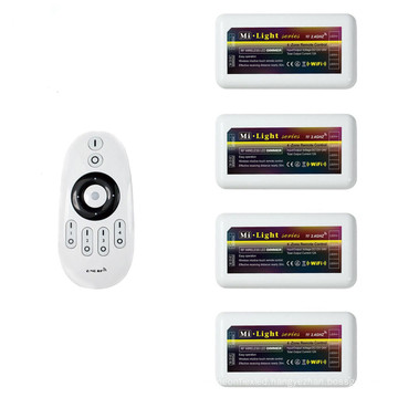 mi.light wireless rf 2.4G 4 zone led remote controller,led controller dimmer for ww/cw single color led strip light dc 12-24v