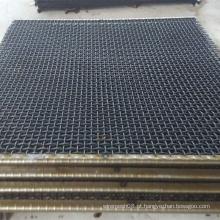 Malha de arame de mineração frisada de aço manganês