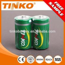 Tamanho de pilhas de zinco carbono D 1, 5V