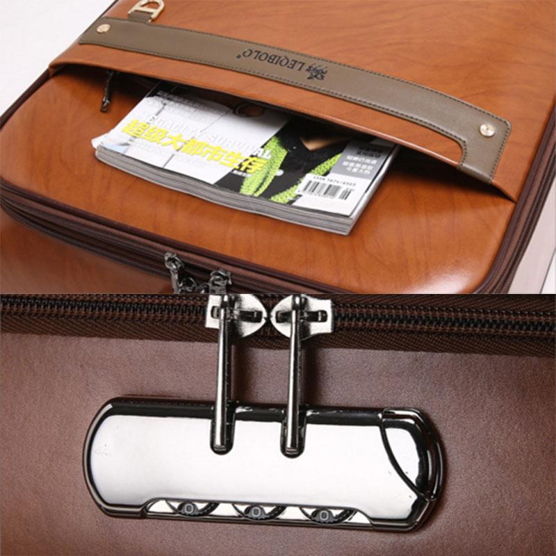 Safe lock pu luggage