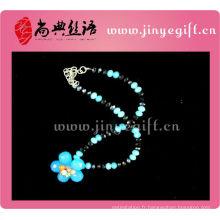 Collier de perle de cristal à la main de mode