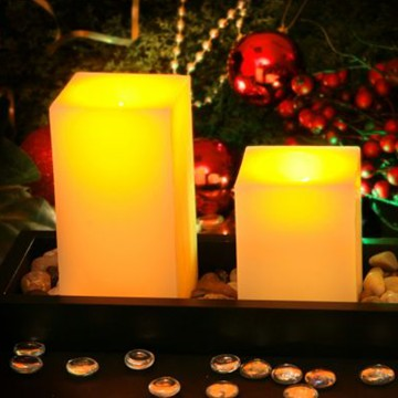 The realistic wax LED candles