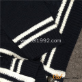 Boy Button-down Cardigan Cable Sweater with Custom Logo