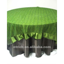 mantel satén lujo, cubierta de tabla de banquete, boda, hotel