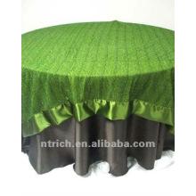 toalha de mesa cetim de luxo, tampa de tabela para banquetes, casamento, hotel