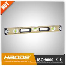 Alta calidad globle precisión estándar aleación de aluminio tres viales nivel de alcohol magnético