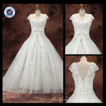New Arrival Custom Graceful Sexy Diamond Sheath Strapless A-Line With White Sash Bow Sweep Train Bridal Wedding Dress WA00093
